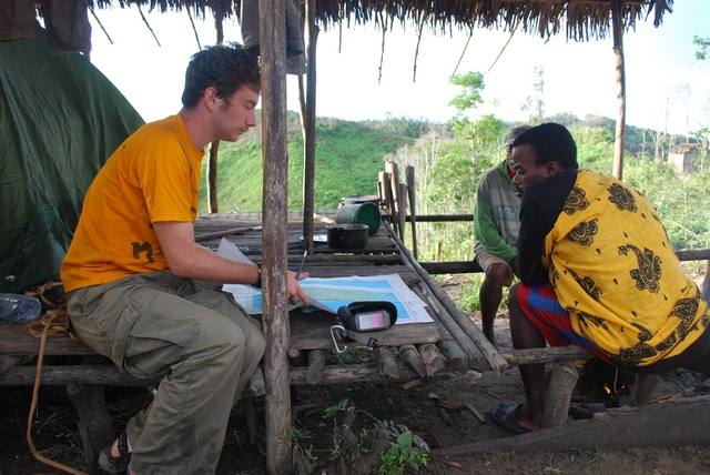 Planning the collecting schedule of the day on Ampasindava peninsula, north-western Madagascar, 2011